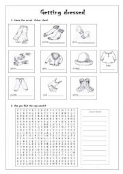 English Worksheet: Winter clothes
