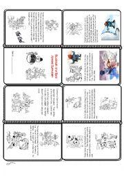English Worksheet: Rudolph Mini-Book