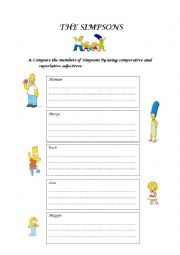 English Worksheet: comparing people with adjectives