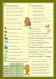 English Worksheet: verb have - interrogative : answers to yes-no / wh- questions ( part 2 )
