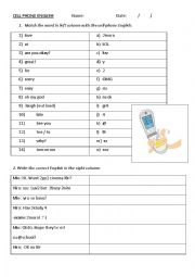 English Worksheet: SMS / Text message English