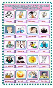English Worksheet: personality types 3