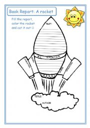 English Worksheet: Book Report:: A rocket