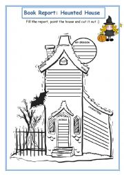 English Worksheet: Book Report: Haunted House