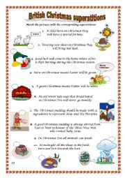 English Worksheet: Christmas superstitions in Britain - reuploaded