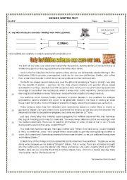 English Worksheet: 11th Grade Written Test  - Genetic Manipulation