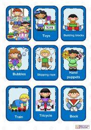 English Worksheet: Playtime flashcards