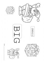 English Worksheet: Christmas: big-small