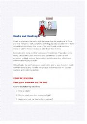 English Worksheet: Banks and banking