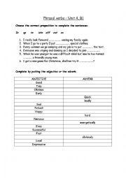 Vocabulary and phrasal verbs
