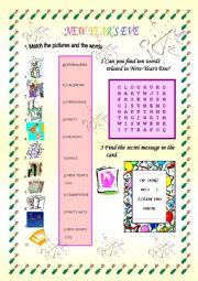 English Worksheet: New Year�s Eve Games