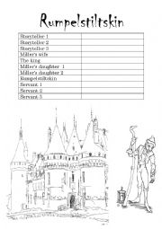 English Worksheet: Rumpelstiltskin Play Script / Role Play
