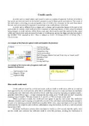 English Worksheet: Credit cards