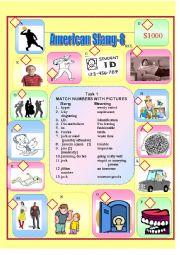 English Worksheet: American Slang-8