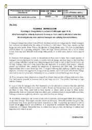 English Worksheet: END-OF-TERM TEST N°1 3rd FORM ARTS
