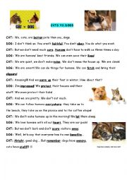English Worksheet: Dogs vs.cats