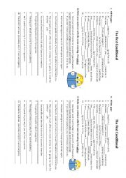 English Worksheet: The first conditional. Unless