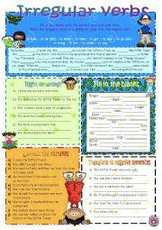 English worksheet: Irregular verbs