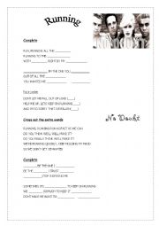 English Worksheet: Running by No doubt
