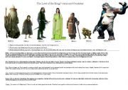 English Worksheet: The Lord of the Rings´s races and creatures