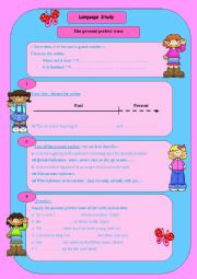 English Worksheet:  the present perferct tense: use & usage, consolidation, time line