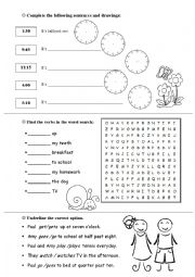 English Worksheet: Treasure Hunt 2nd Junior