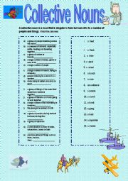 English Worksheet: Collective Nouns - matching