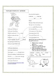 English Worksheet: toy story song