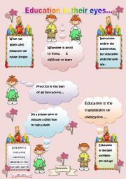 PROVERBS ABOUT SCHOOL AND EDUCATION-sheet n°2