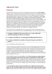 English Worksheet: The silent way