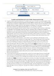 4th Arts Full test1(Reading, Language, Writing) + Correction