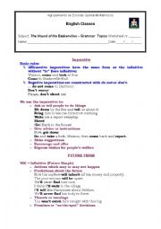 English Worksheet: The Hound of Baskervilles - Grammar focus