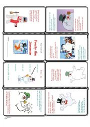 english worksheets frosty the snowman mini book. Black Bedroom Furniture Sets. Home Design Ideas