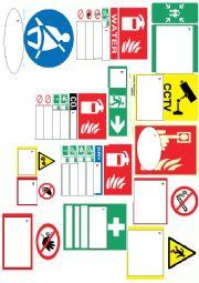 english worksheets safety signs. Black Bedroom Furniture Sets. Home Design Ideas