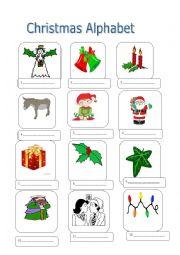 Christmas Alphabet-First Part