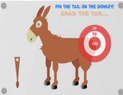 English Worksheets: Donkey to pin its tail