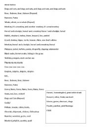English Worksheets: ANIMAL BEATBOX 122 ANIMALS SONG / FILM  AWESOME !!!!