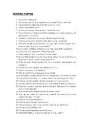 100 writing topics
