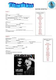 English Worksheet: TITANIUM by David Guetta/Sia