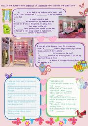 English Worksheets: THERE IS/ARE WITH MY DREAM ROOM