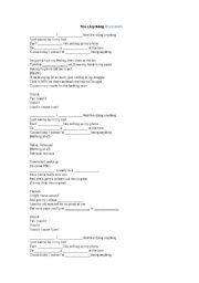 English Worksheet: Song Class - Bruno Mars: The Lazy Song
