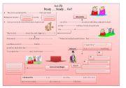 English Worksheets: King Lear summary chart Act 3