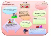 English Worksheets: King Lear chart Act 4