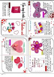 8 fun and easy ways to make a valentine card.