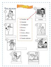 English Worksheets: Occupations! :)