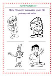 English Worksheets: Occupations (part 1)