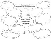 English Worksheets: Mind map for Day Camp Activities
