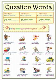 English Worksheets: Question Words ...