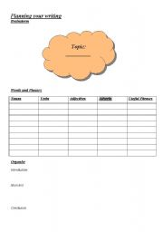 English Worksheets: Planning your writing