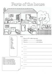 English worksheets house worksheets page 91